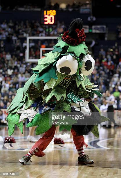 The Stanford Cardinal mascot walks on the court in the first half against the Connecticut Huskies during the NCAA Women's Final Four semifinal at...