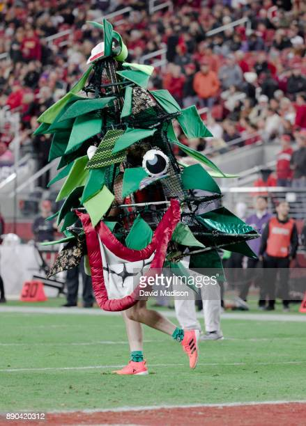 The Stanford Tree mascot appears at the Pac12 Championship game between the USC Trojans and the Stanford Cardinal on December 1 2017 at Levi's...