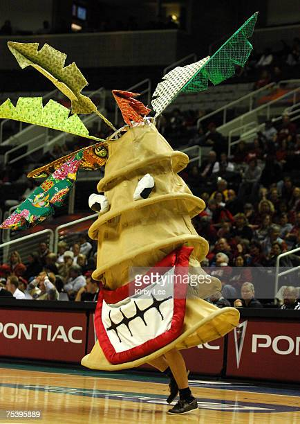 The Stanford Tree mascot at the State Farm Pacfic-10 Conference women's basketball championship against Arizona State at the HP Pavilion in San Jose,...