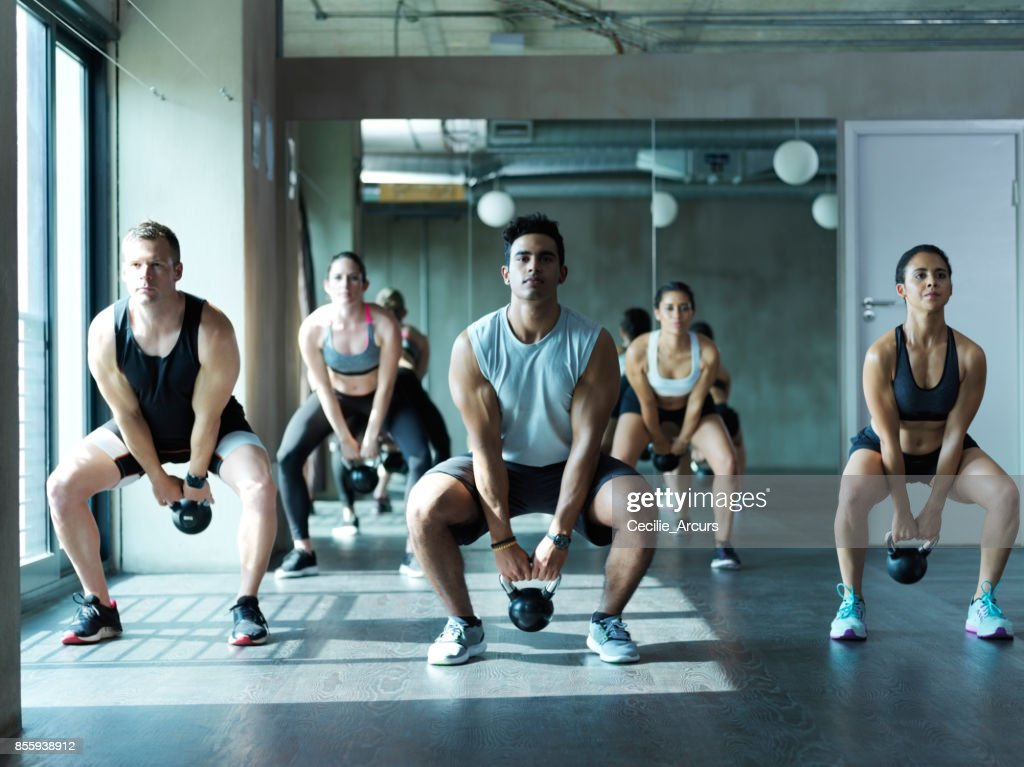 The staple of exercise - squats : Stock Photo
