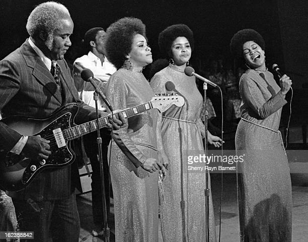 The Staple Singers perform on TV show in 1970 in New York City New York