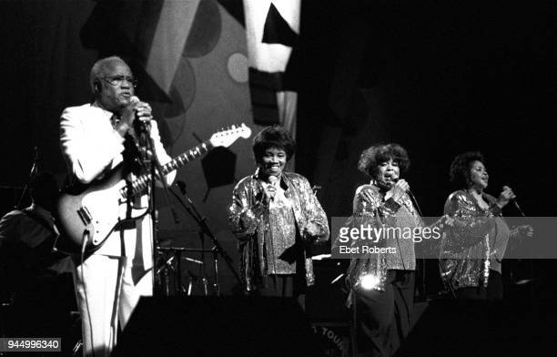 The Staple Singers performing at the Beacon Theatre in New York City on October 19 1991 Pops Staples Cleotha Staples Mavis Staples and Yvonne Staples