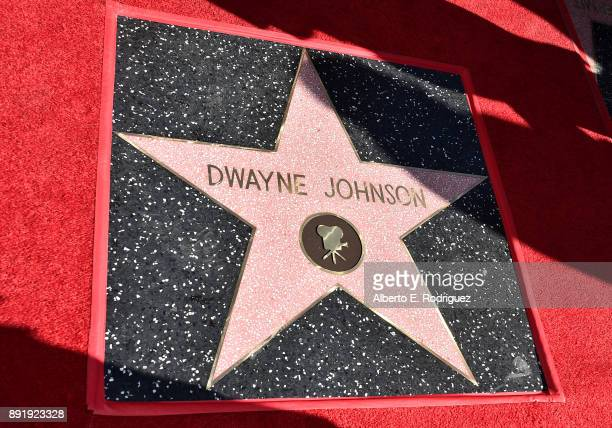 The Star at a ceremony honoring Dwayne Johnson with the 2624th star on the Hollywood Walk of Fame on December 13 2017 in Hollywood California