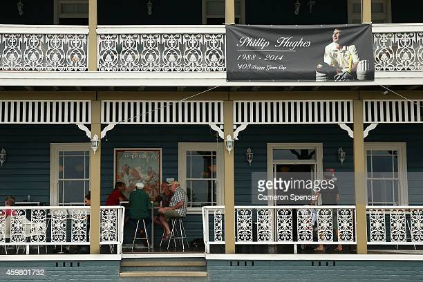 The Star Hotel is seen with a banner of 'Phillip Hughes' on December 2 2014 in Macksville Australia Cricket player Phillip Hughes passed away aged 25...