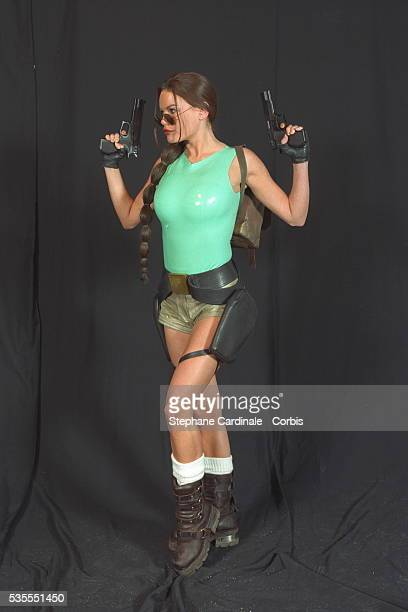 The star of the video game 'Tomb Raider' Lara Croft