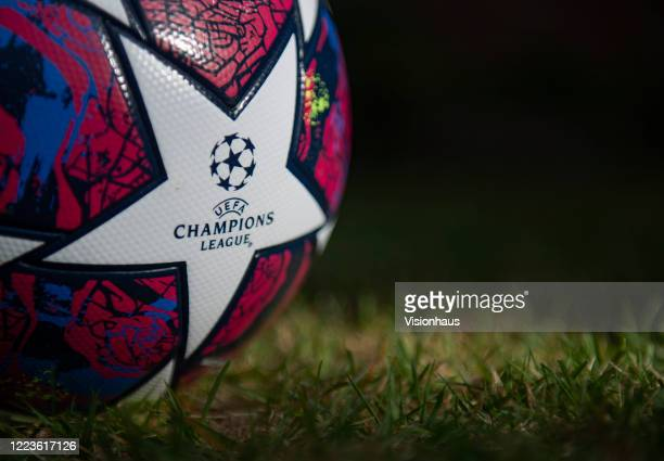 The Starball the official Adidas UEFA Champions League Match Ball on May 5 2020 in Manchester England