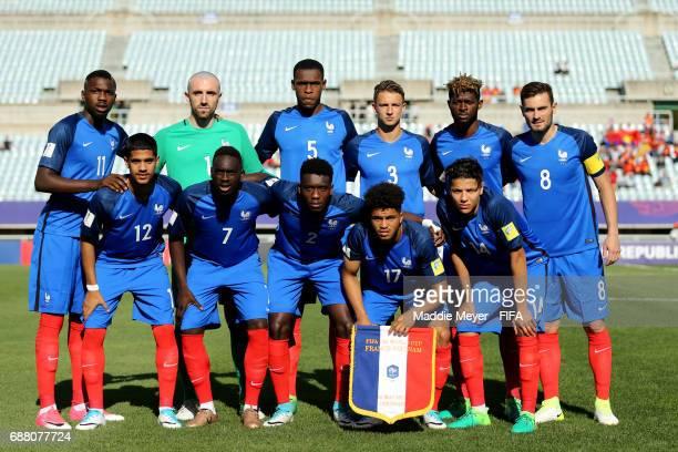 The staring lineup of France before the FIFA U20 World Cup Korea Republic 2017 group E match between France and Vietnam at Cheonan Baekseok Stadium...