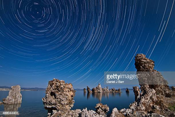 the stars above mono lake. - barr stock pictures, royalty-free photos & images