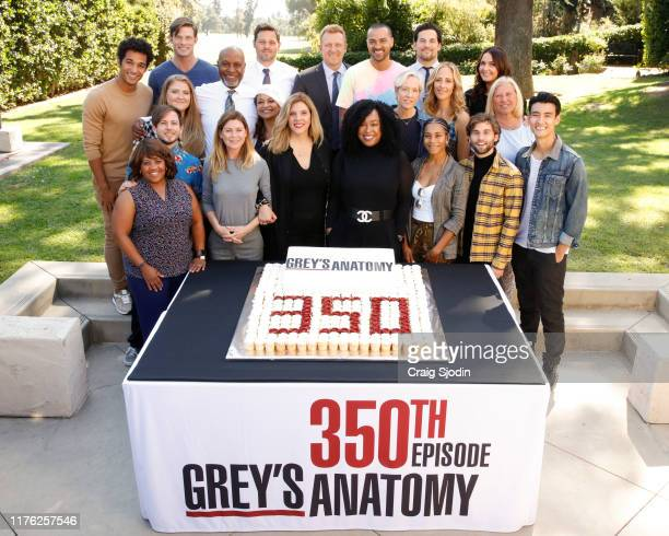S ANATOMY The stars and executive producers of ABC's Grey's Anatomy along with President of ABC Entertainment Karey Burke celebrate the taping of the...