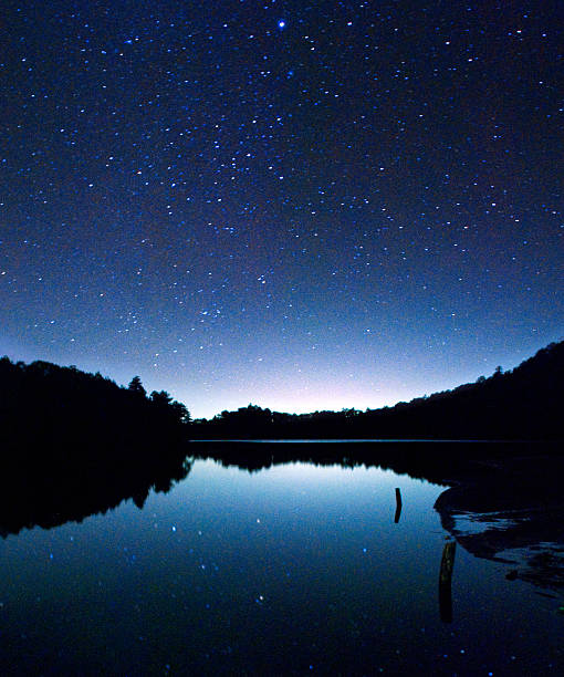 the stars falls into the Yunoko Lake