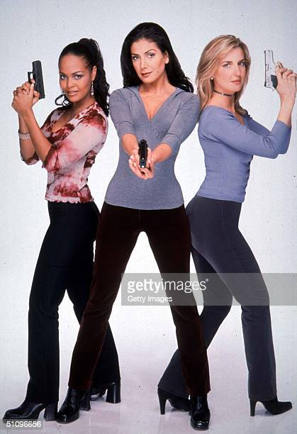 The Stars Of A Hispanic Remake Of The Popular 70's Tv Series Charlie's Angels From Left To Right Magali Caicedo From Colombia Patricia Manterola From...
