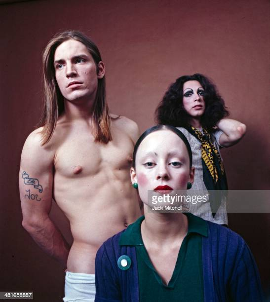 The stars of Andy Warhol's 'Trash' Holly Woodlawn Jane Forth and Joe Dallesandro in 1970