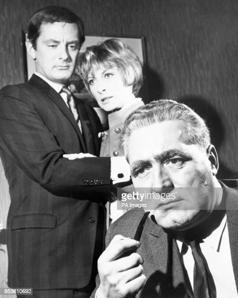 The stars of Anglia TV's The Confession Francis Matthews Ann Lynn and Leslie Sands
