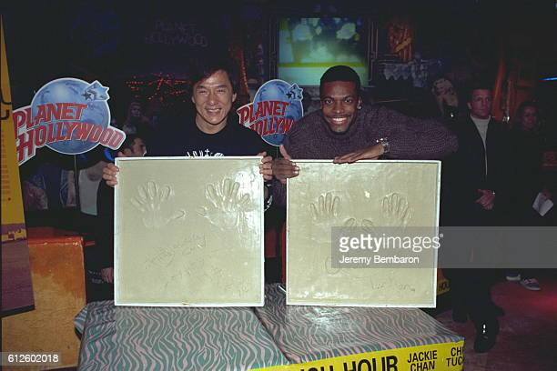 The stars of Brett Ratner's movie Jackie Chan and Chris Tucker