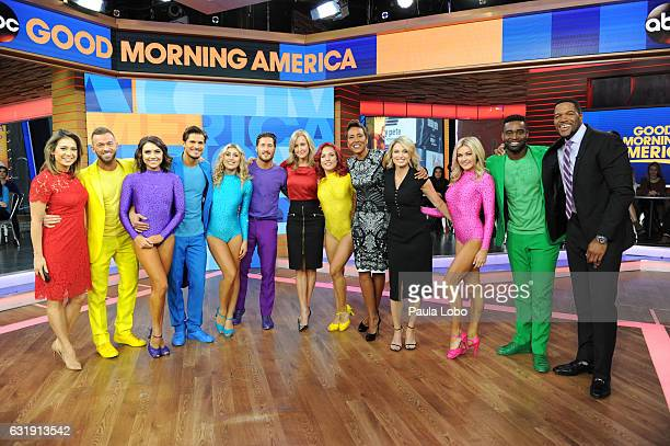 AMERICA The stars of Dancing with the Stars Live We Came to Dance perform on Good Morning America Tuesday January 17 2017 on the Walt Disney...