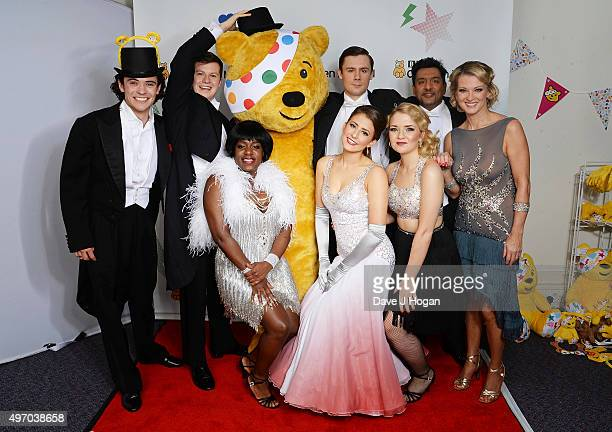 The Stars of EastEnders show their support for BBC Children in Need at Elstree Studios on November 13 2015 in Borehamwood England