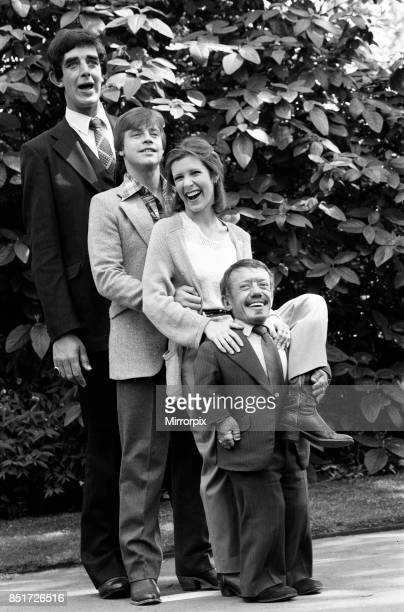 The stars of 'Star Wars Episode V û The Empire Strikes Back' attend a photocall outside the Savoy Hotel Peter Mayhew Mark Hamill Carrie Fisher and...