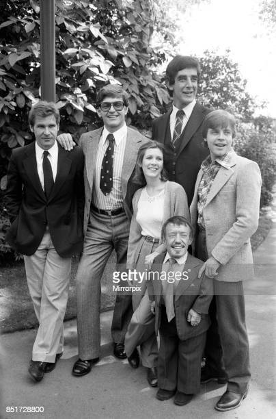 The stars of 'Star Wars Episode V û The Empire Strikes Back' attend a photocall outside the Savoy Hotel harrison Ford David Prowse Carrie Fisher...