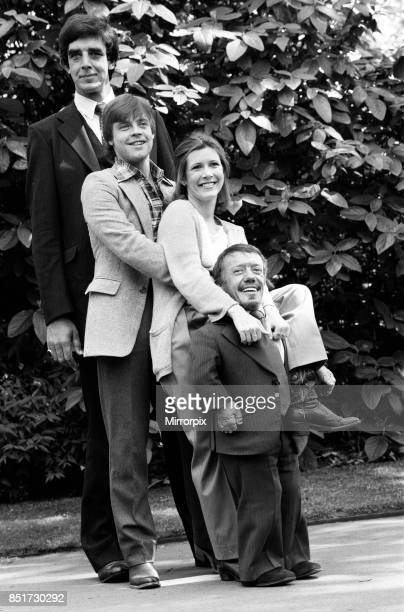 The stars of 'Star Wars: Episode V û The Empire Strikes Back' attend a photocall outside the Savoy Hotel, Peter Mayhew, Mark Hamill, Carrie Fisher...