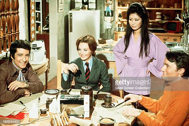 The stars of the British television series 'The Protectors' circa 1973 Left to right Tony Anholt as Paul Buchet Nyree Dawn Porter as the Contessa...
