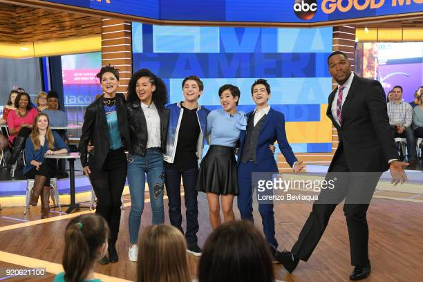 """The stars of the Disney Channel series """"Andi Mack"""" were interviewed on Walt Disney Television via Getty Images's """"Good Morning America"""" on Monday,..."""