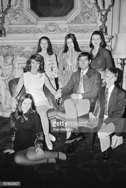 The stars of the film 'Nicholas and Alexandra' UK 3rd November 1971 Clockwise from bottom left Candace Glendenning Janet Suzman Fiona Fullerton Lynne...