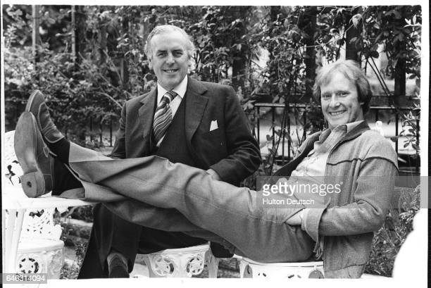 The stars of the television series Minder actors George Cole and Dennis Waterman 1979