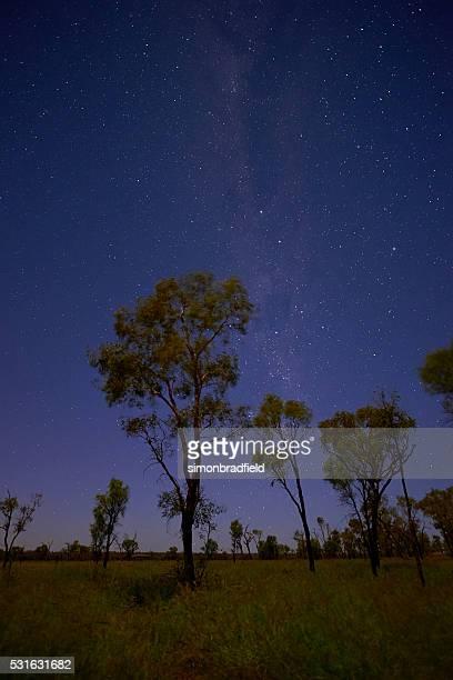The Stars Over An Uluru Landscape