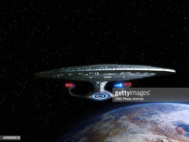 The starship Enterprise in the STAR TREK THE NEXT GENERATION episode The Hunted Season 3 episode 11 Original air date January 8 1990