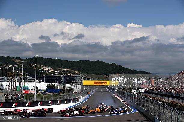 The start during the Formula One Grand Prix of Russia at Sochi Autodrom on May 1 2016 in Sochi Russia