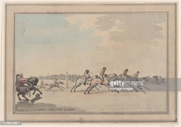 The Start, June 21, 1786. Artist Thomas Rowlandson.