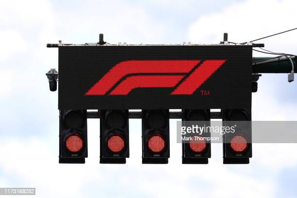 The start lights are pictured before the F1 Grand Prix of Italy at Autodromo di Monza on September 08, 2019 in Monza, Italy.