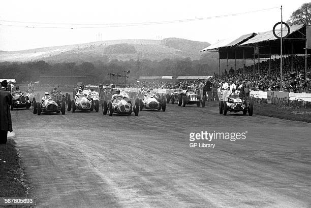 The start of Festival of Britain Trophy race at Goodwood England 1951