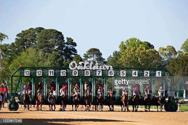 The start of the 10th race at Oaklawn Racing Casino Resort on Derby Day during the Covid19 Pandemic on May 2 2020 in Hot Springs Arkansas
