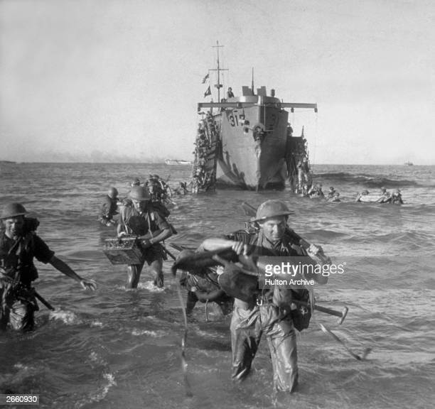The start of the Allied invasion of Sicily - zero hour has arrived and the men of the Allied forces receive the word 'Go.'