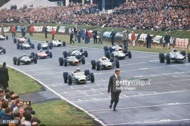 The start of the British Grand Prix at Brands Hatch 16th July 1966