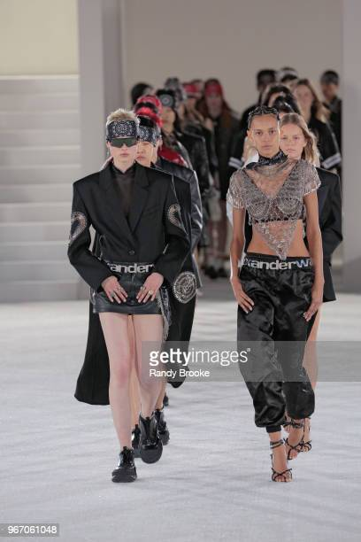 The start of the finale at the Alexander Wang Resort Runway show June 2018 New York Fashion Week on June 3 2018 in New York City
