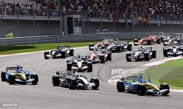 The start of the Formula One Turkish Grand Prix at Istanbul Park on August 20, 2005 in Istanbul, Turkey.