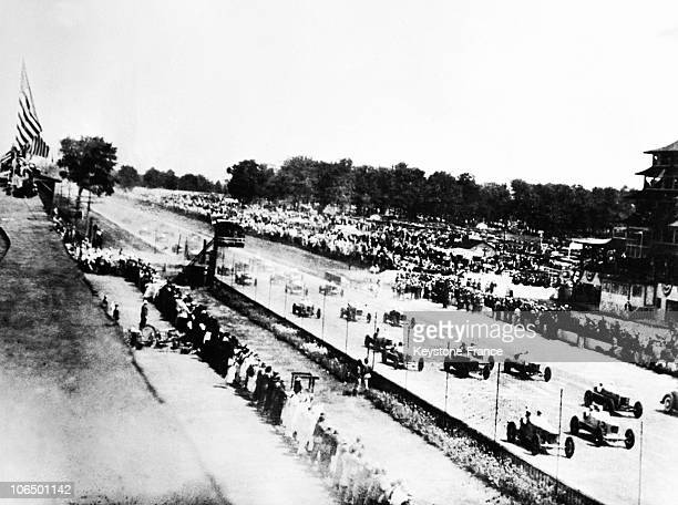 The Start Of The Indianapolis Grand Prix The Greatest Car Race In The United States Held In Indianapolis Indiana Usa On June 18 1932 The American...