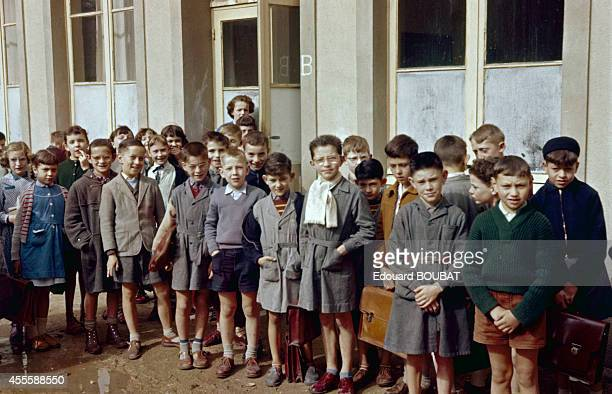 The start of the new school year for the 8eme class 1957 in NogentleRotrou France