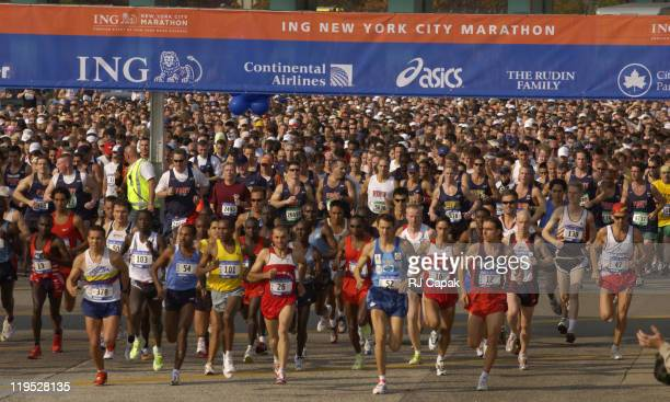 The Start of The NYC Marathon during ING 34th New York City Marathon at Streets of New York in New York City New York United States