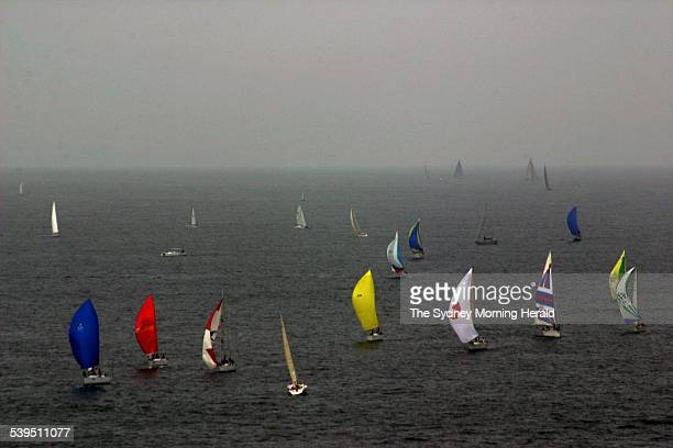 The start of the Pittwater to Coffs Harbour Yacht Race off Palm Beach 2 January 2005 SMH Picture by TANYA LAKE