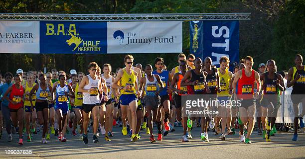 The start of the race was at 830 am The Boston Athletic Association 2011 Half Marathon kicked off at 830 am in Franklin Park in Dorchester Mass and...
