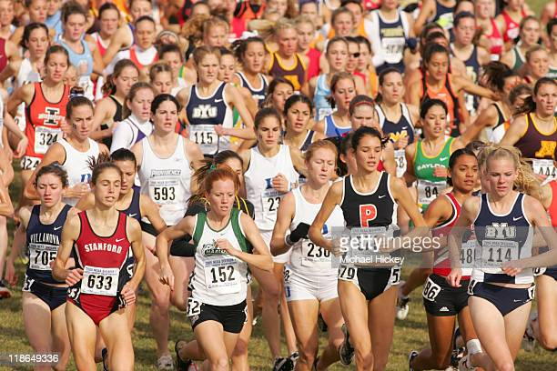 The start of the women's NCAA Cross Country Championship race at Indiana State University in Terre Haute Indiana on November 21 2005