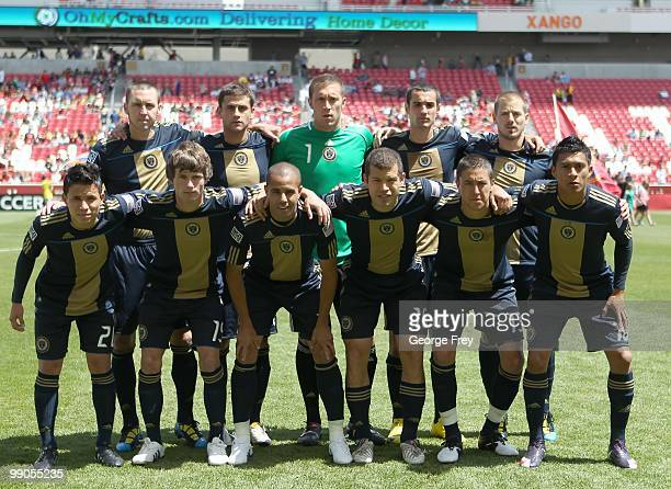 The starters for the Philadelphia Union pose for a team picture before an MLS soccer game against Real Salt Lake on May 8 2010 at Rio Tinto Stadium...