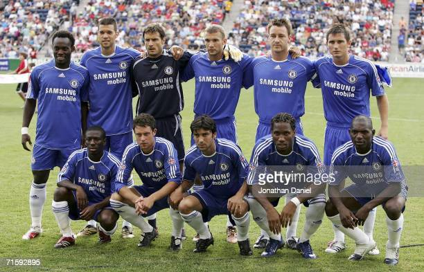 The starting 11 players of Chelsea FC pose before the Sierra Mist MLS AllStar friendly match on August 5 2006 at Toyota Park in Bridgeview Illinois