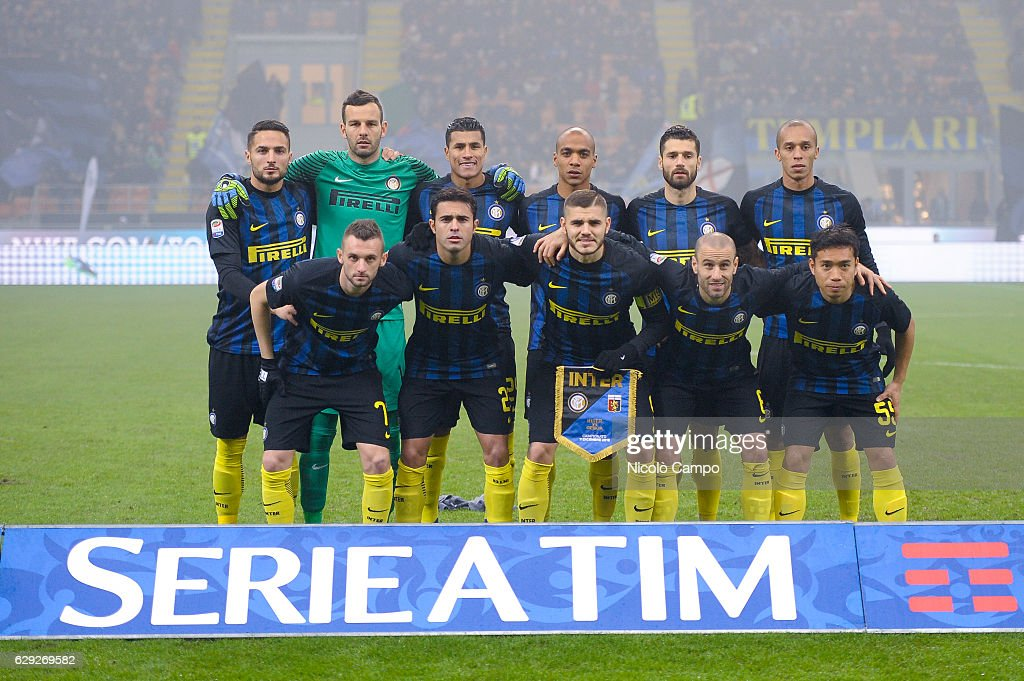 The starting eleven of FC Internazionale during the Serie A... : Nachrichtenfoto