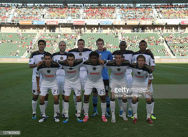 560d864ff The starting eleven of the Philadelphia Union pose for a group photo prior  to the MLS