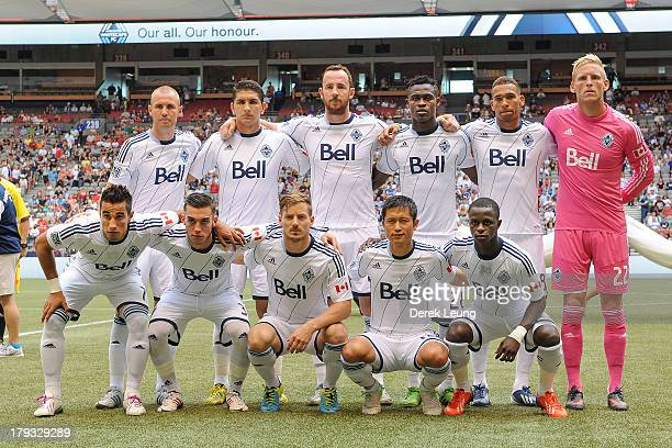a15c7c3d6 The starting eleven of the Vancouver Whitecaps pose for a photo prior to their  match against