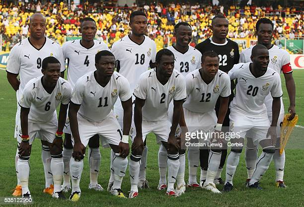 The starting elven from Ghana during the CAf African Cup of Nations Semimfinals match between Ghana and Cameroon in Accra Ghana